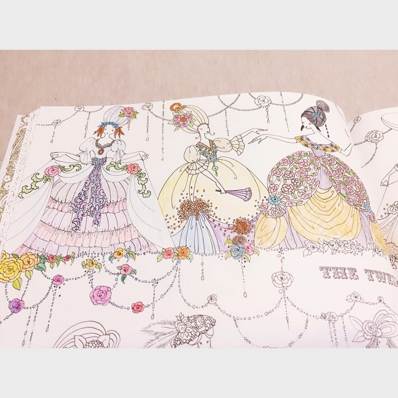 手绘古装公主铅笔日本