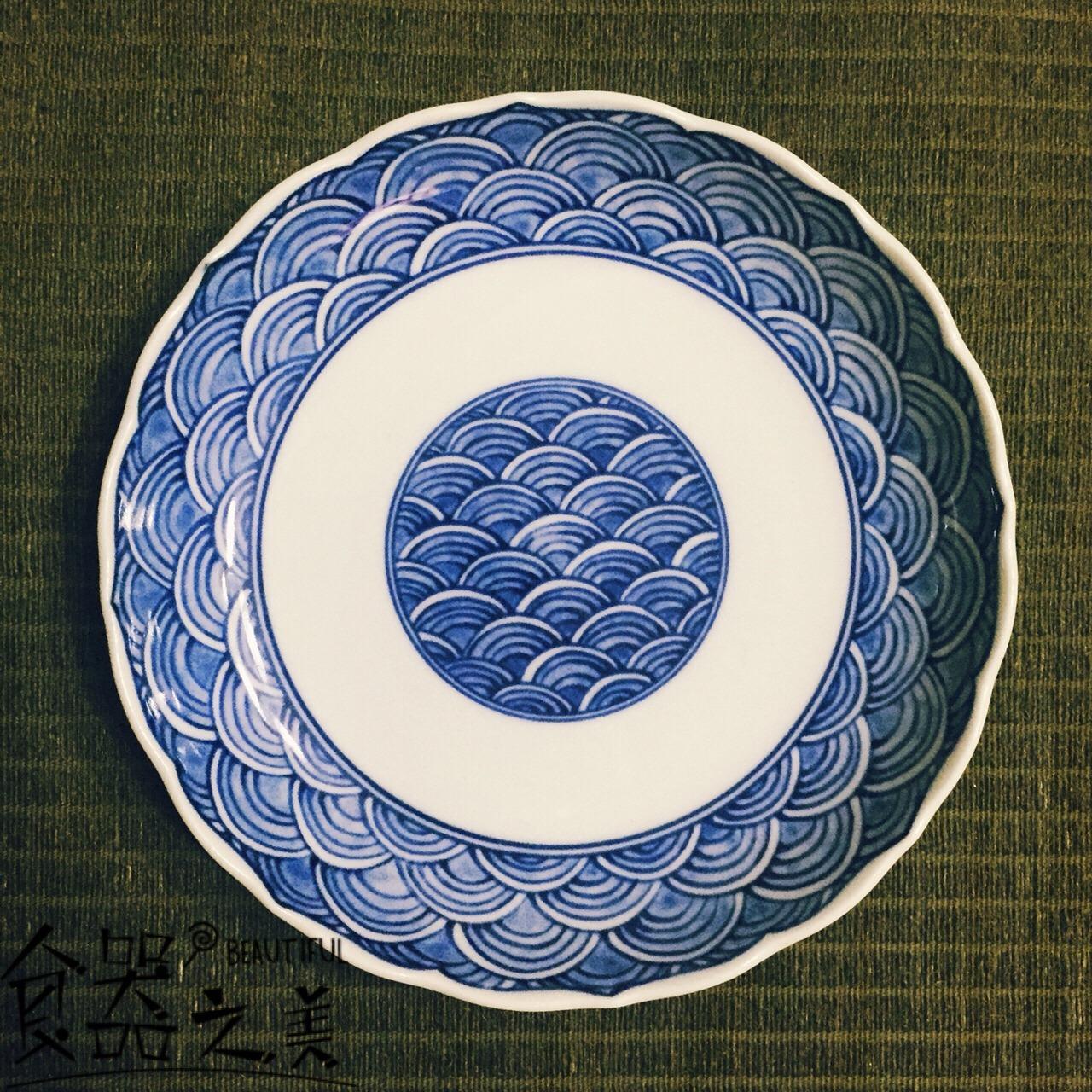 水波纹碟子_怎么样_水波纹是日式图案的绝对经典了