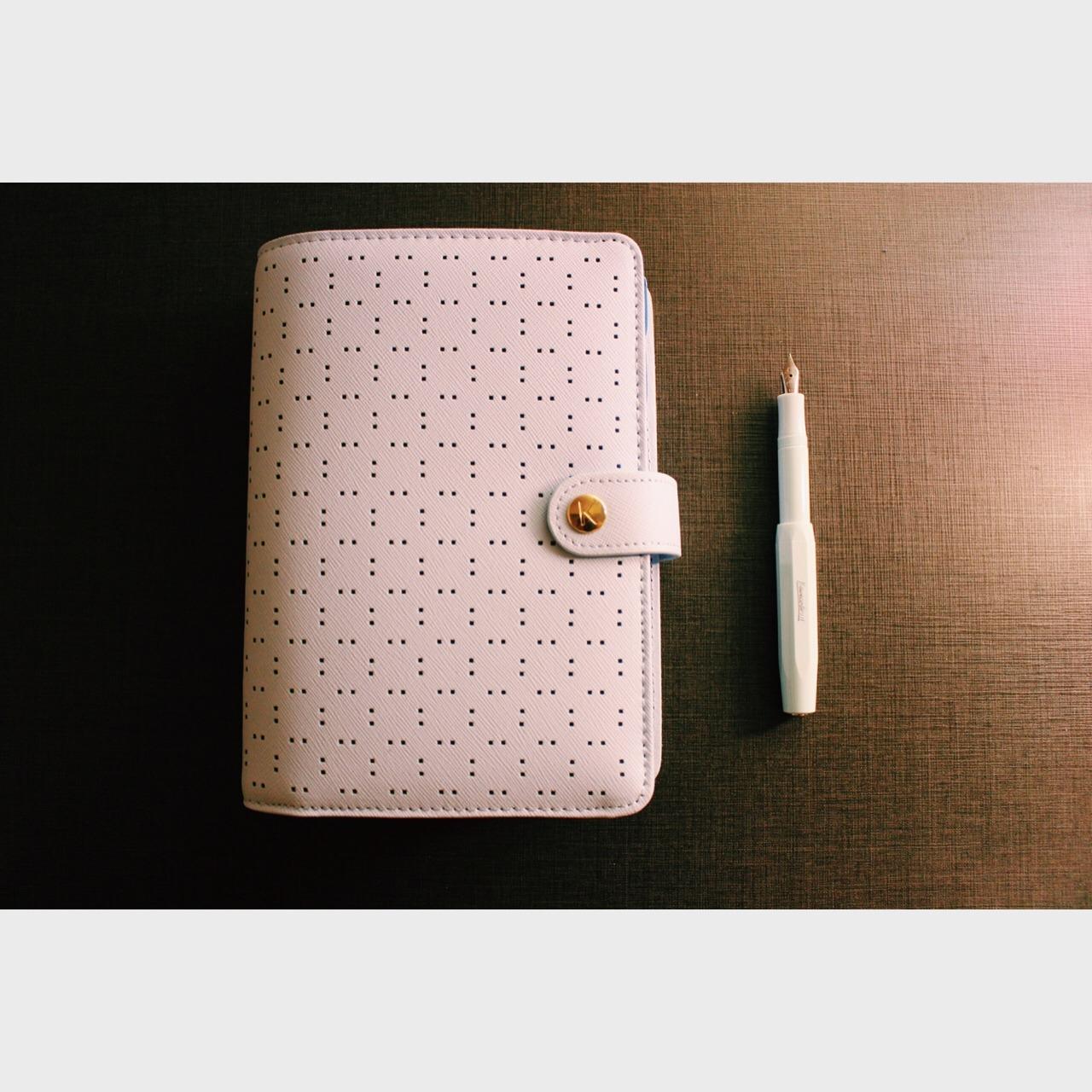 薄荷绿,文具,活页手账本,钢笔