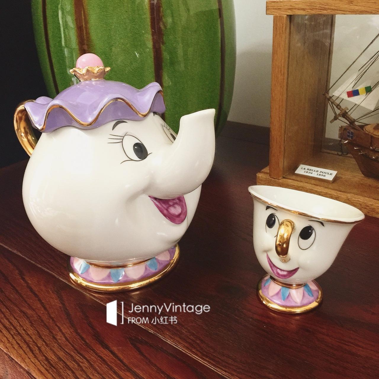 这套disney的茶煲太太茶壶套装实在太可爱了