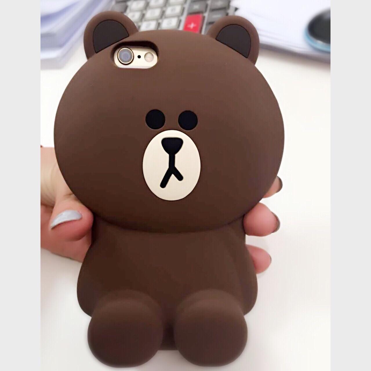 韩国line布朗熊手机壳