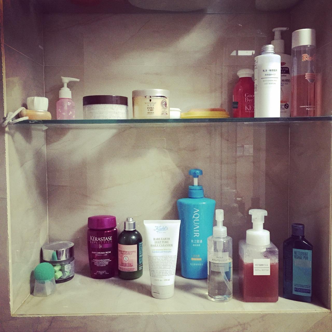 浴室护肤品收纳