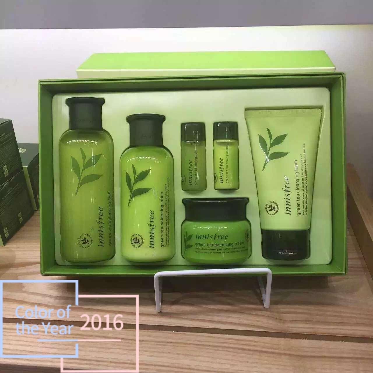 高先生的小可爱悦诗风吟绿茶套盒 水乳洗面奶 面霜 附带赠送的中样水