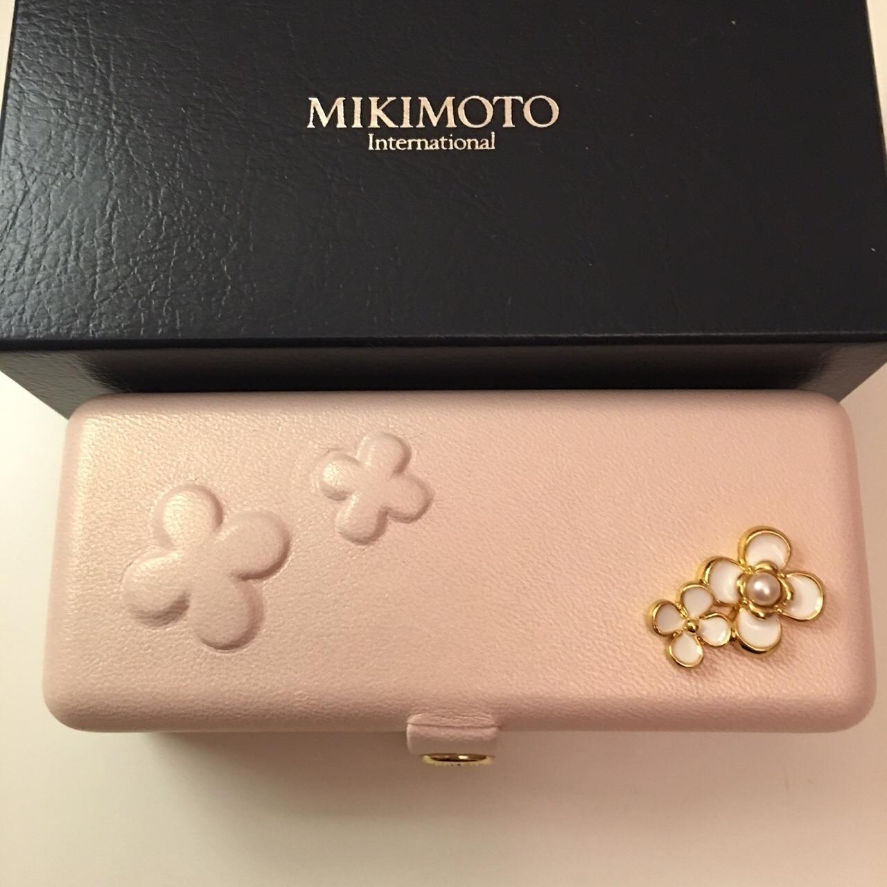 mikimoto珍珠耳钉
