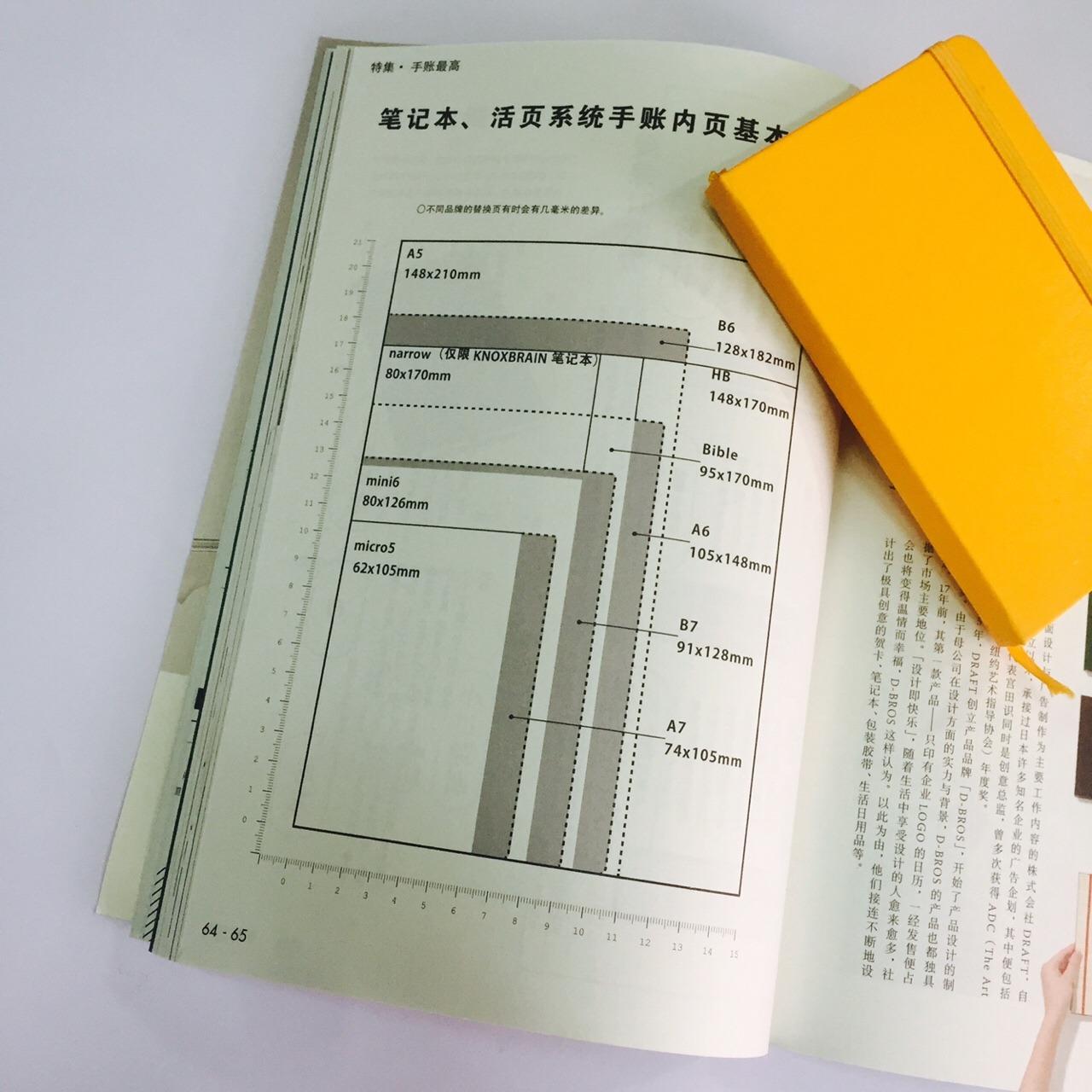 杂志,但是里面介绍了日本各种品牌手帐的代表产品