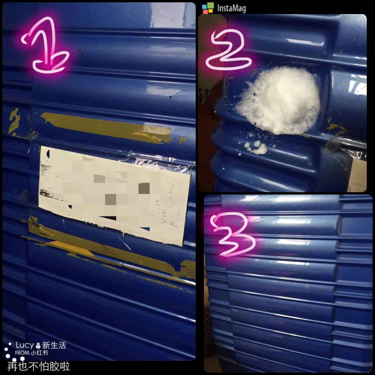 每次坐飞机托运行李 我都会在箱子上贴信息 姓名地址电话什么的 以防