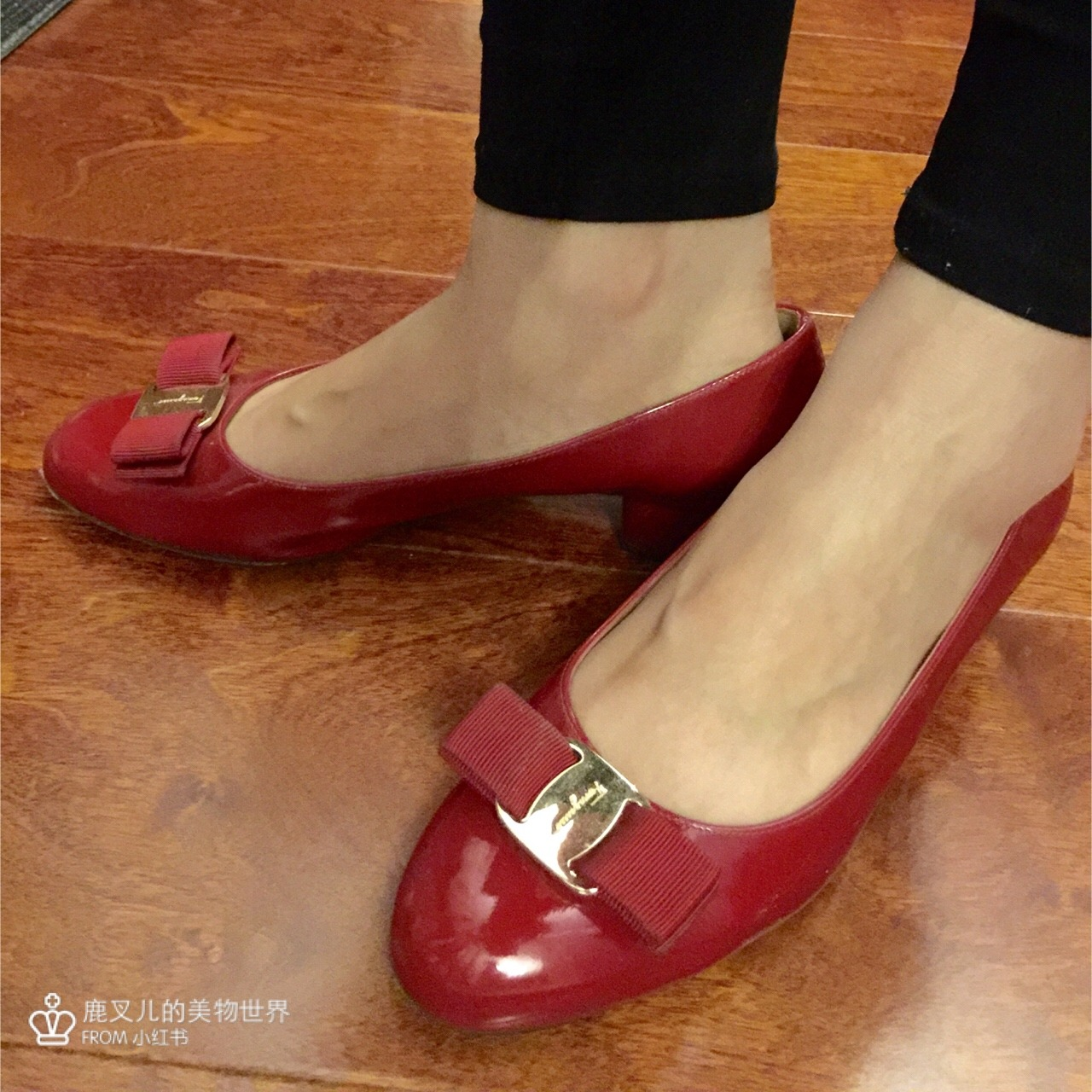 【私物】拥有一双红色蝴蝶结高跟鞋是每个小公主的梦想吧