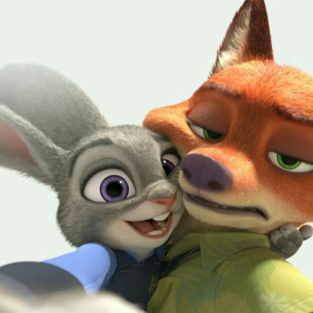 疯狂动物城 狐狸与兔子cp撩人