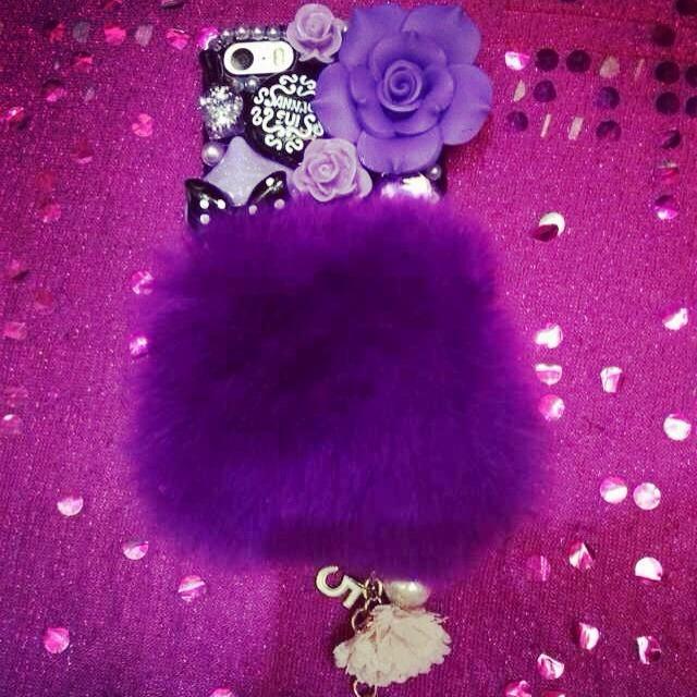 feme hearts兔毛手机壳图片