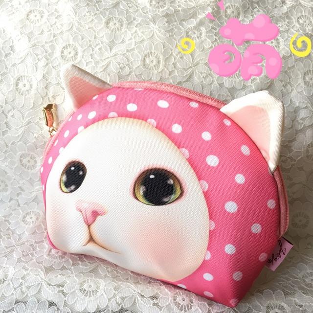 choochoo可爱猫咪收纳小包 觉得图案好可爱就入手啦 这个可以装6,6pl