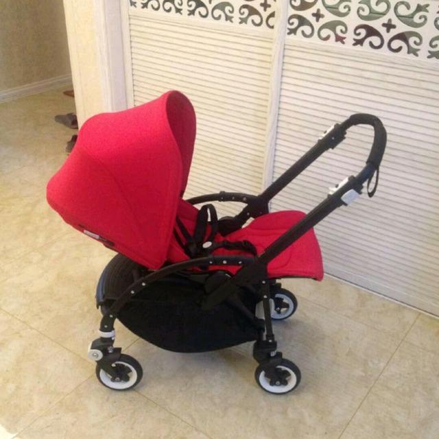 美国买回来的bogaboo bee3婴儿推车 高景观 安装虽然用了点力 拼好后