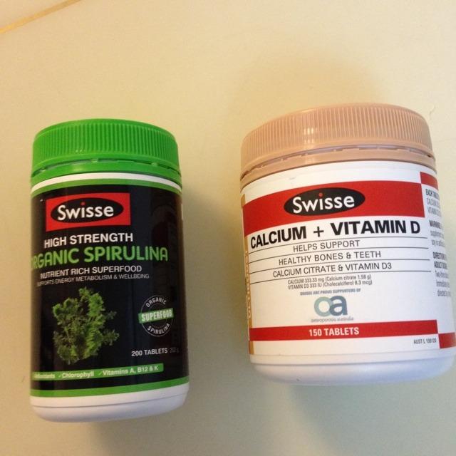 澳洲swisse螺旋藻搭配swisse 钙片 维生素d