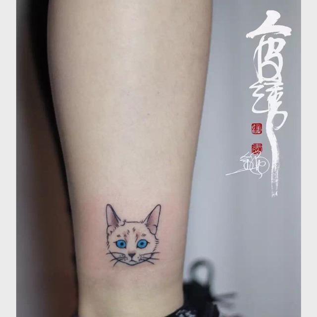 来福他妈是个大美人动物纹身 一直想把我们家猫猫纹在身上,这一家
