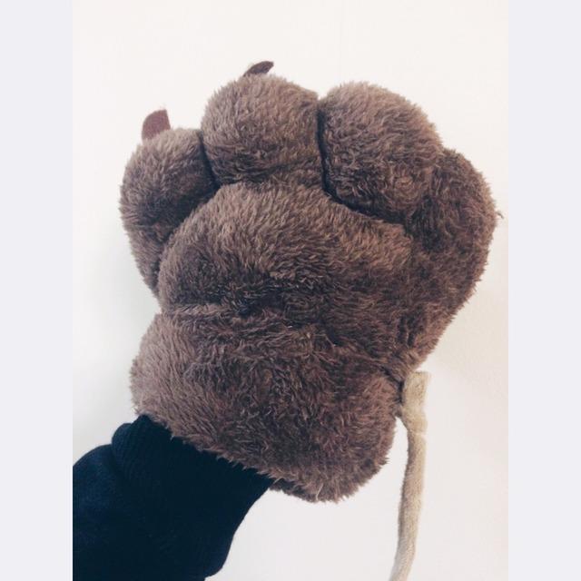 很可爱的熊掌手套
