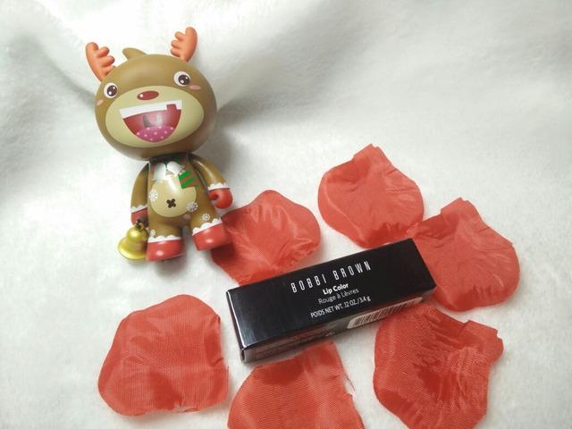 Bobbi Brown Burnt Red 试色_彩妆_口红_小红