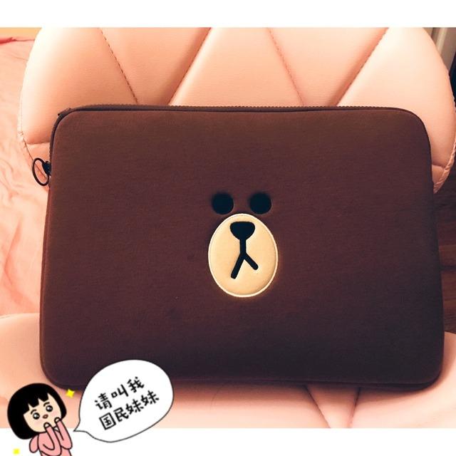 布朗熊的电脑包,是不是很可爱?