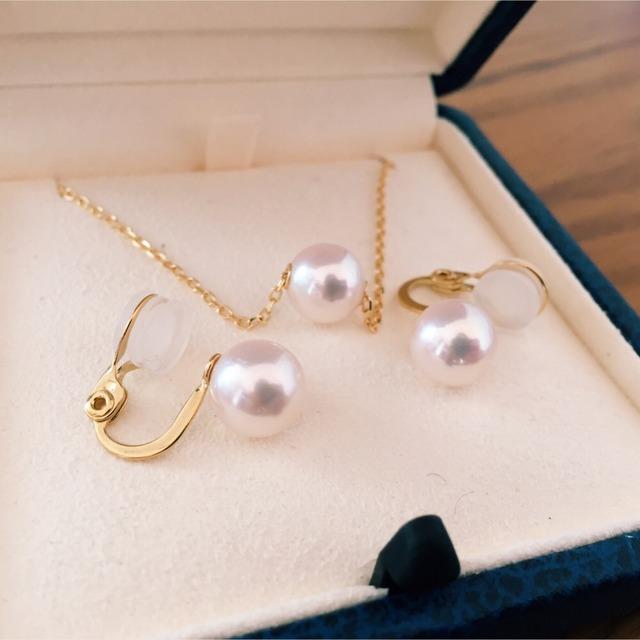 mikimoto:珍珠项链 耳钉