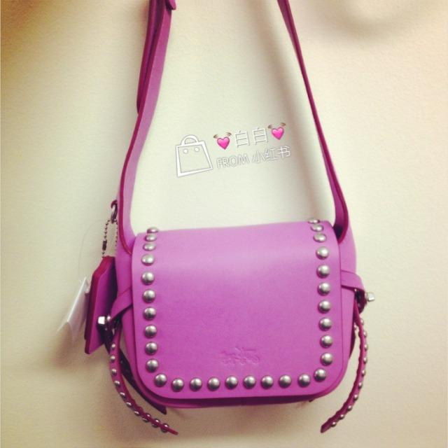 蔡依林同款 粉紫色coach小挎包   一直想要的包包,原价350$直到lord