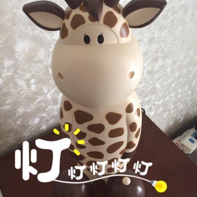 这是一款萌萌哒q版长颈鹿小台灯[害羞]