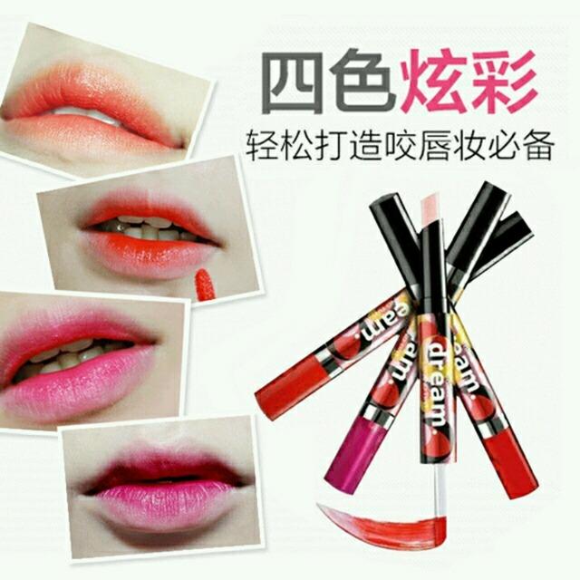 可以画个美美的韩式咬唇妆图片