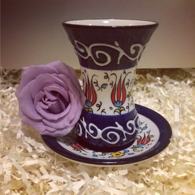 土耳其 手绘陶瓷杯