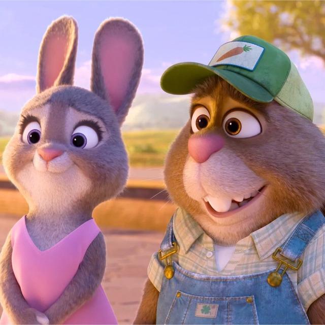 我家miuji 像极了疯狂动物城的兔爸爸