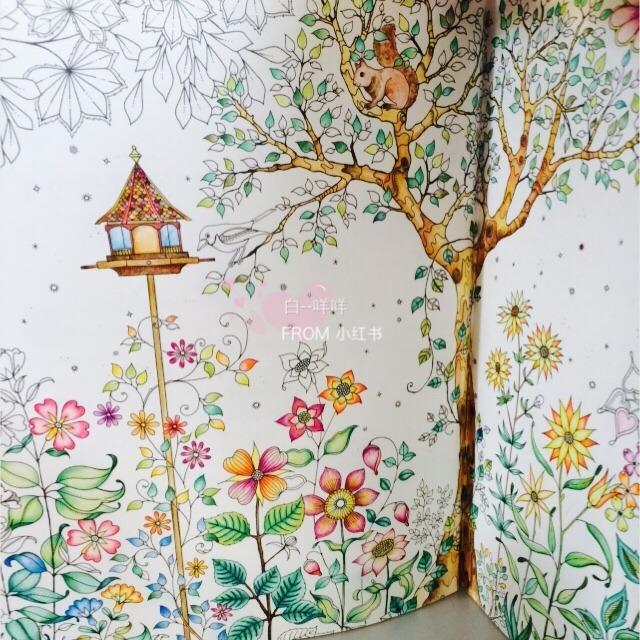 秘密花园手绘本__小红书