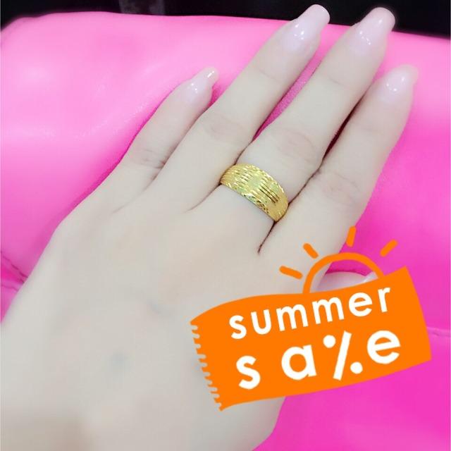 六福珠宝十字架戒指