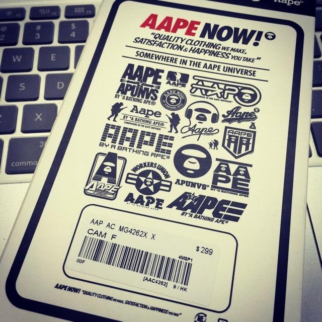 aape迷彩iphone手机壳和同款充电宝
