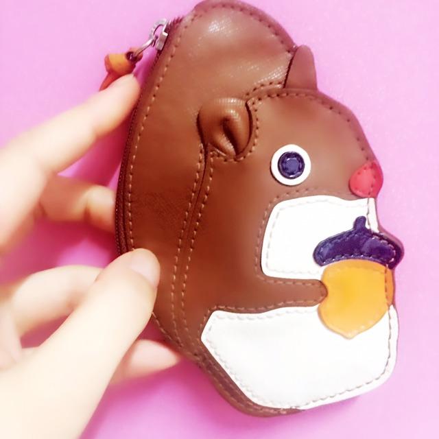 很小很可爱,coach卡通松鼠零钱包,看起来很小,但是塞银行