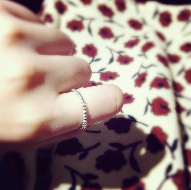 925银珠戒指 请忽略我的肥爪